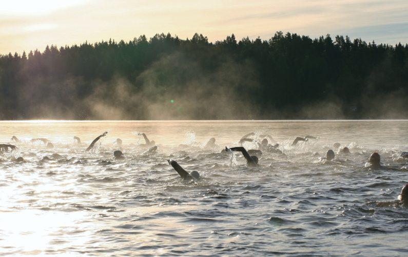 open water swimming, triathlon, ironman